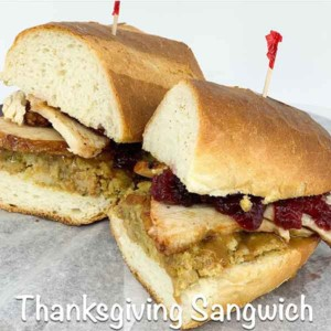 Thanksgiving day sandwich